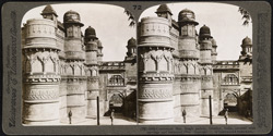 Celebrated Man Singh [Man Mandir] Palace, Gwalior, covered with carvings and enameled tiles